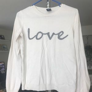 Merino wool 'Love' GAP sweater